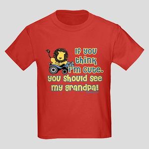 If you think I'm cute, grandp Kids Dark T-Shirt
