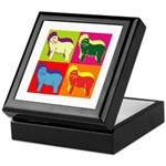 Bearded Collie Silhouette Pop Art Keepsake Box