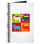 Bearded Collie Silhouette Pop Art Journal