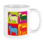 Bearded Collie Silhouette Pop Art Mug