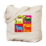 Bearded Collie Silhouette Pop Art Tote Bag
