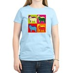 Bearded Collie Silhouette Pop Art Women's Light T-