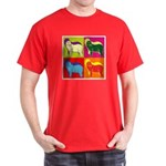 Bearded Collie Silhouette Pop Art Dark T-Shirt