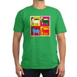 Bearded Collie Silhouette Pop Art Men's Fitted T-S