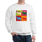 Bearded Collie Silhouette Pop Art Sweatshirt