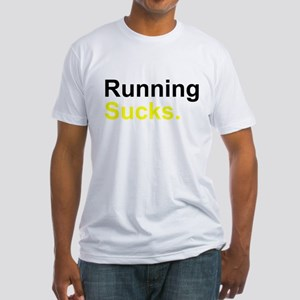 Running Sucks Men's Fitted T-Shirt
