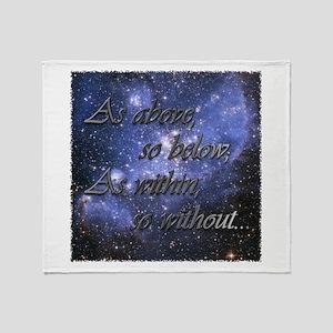 As Above So Below Throw Blanket
