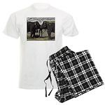 Elephant Eyes Woodcut Men's Light Pajamas
