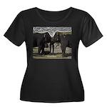 Elephant Women's Plus Size Scoop Neck Dark T-Shirt