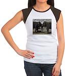 Elephant Eyes Woodcut Women's Cap Sleeve T-Shirt