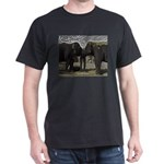Elephant Eyes Woodcut Dark T-Shirt