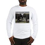 Elephant Eyes Woodcut Long Sleeve T-Shirt