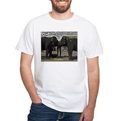 Elephant Eyes Woodcut White T-Shirt