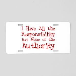No Authority Aluminum License Plate