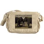 Elephant Eyes Woodcut Messenger Bag