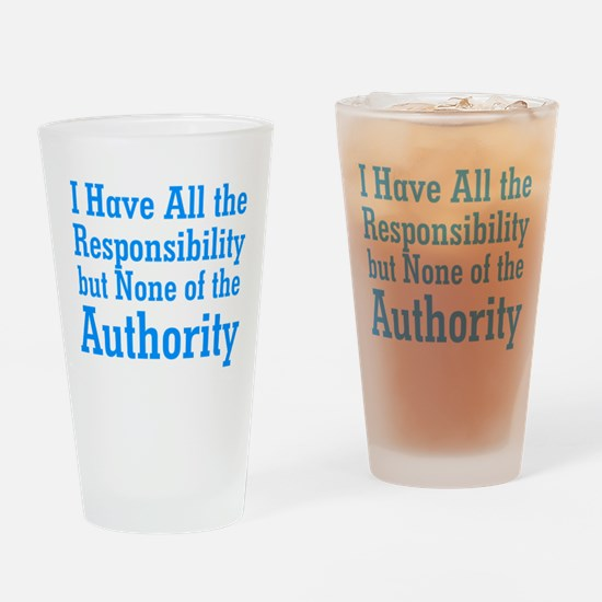 No Authority Drinking Glass