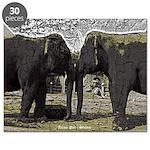 Elephant Eyes Woodcut Puzzle