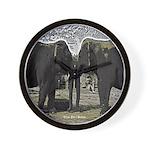 Elephant Eyes Woodcut Wall Clock