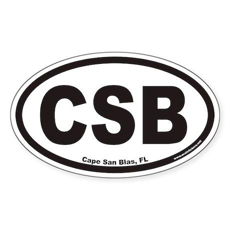 Cape San Blas CSB Euro Oval Sticker