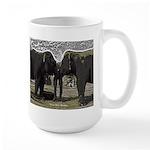 Elephant Eyes Woodcut Large Mug
