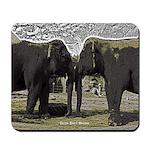 Elephant Eyes Woodcut Mousepad