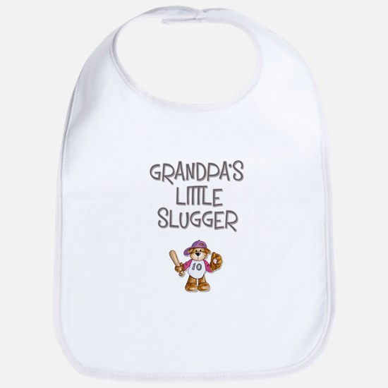 Grandpa's Little Slugger (Girl) Bib