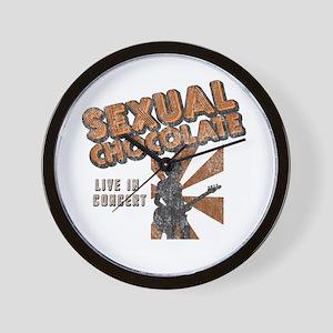 Sexual Chocolate (Retro Wash) Wall Clock