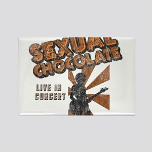 Sexual Chocolate (Retro Wash) Rectangle Magnet