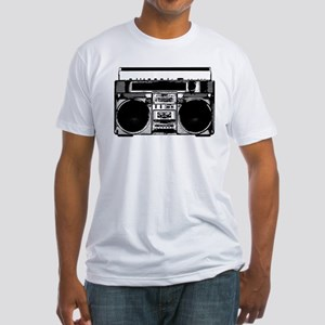 """Boombox"" Fitted T-Shirt"