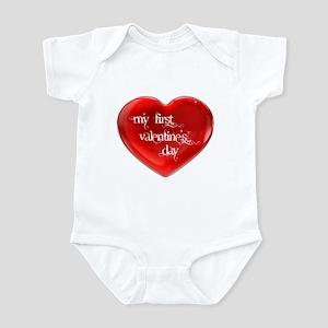 My First Valentine's Day 1 Infant Bodysuit