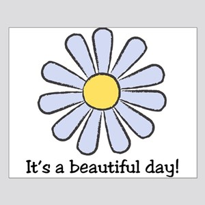 Blue Daisy - Beautiful Day Small Poster