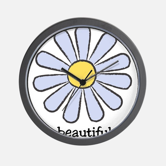 Blue Daisy - Beautiful Day Wall Clock