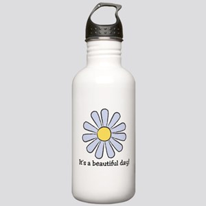 Blue Daisy - Beautiful Day Stainless Water Bottle