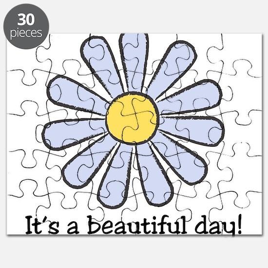 Blue Daisy - Beautiful Day Puzzle