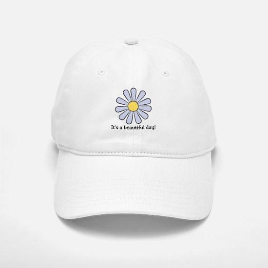 Blue Daisy - Beautiful Day Baseball Baseball Cap