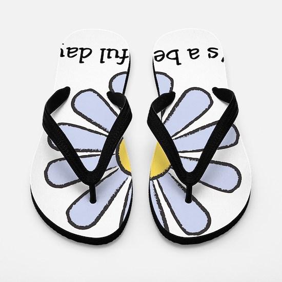 Blue Daisy - Beautiful Day Flip Flops