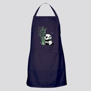Panda Eating Bamboo Apron (dark)