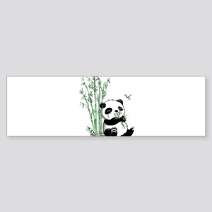 Panda Eating Bamboo Sticker (Bumper)