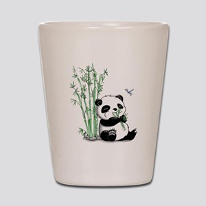 Panda Eating Bamboo Shot Glass