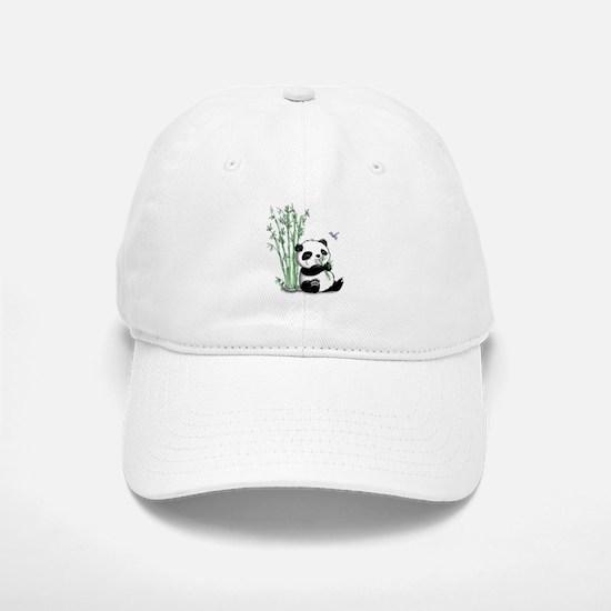 Panda Eating Bamboo Baseball Baseball Cap