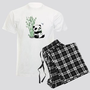 Panda Eating Bamboo Men's Light Pajamas