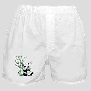 Panda Eating Bamboo Boxer Shorts