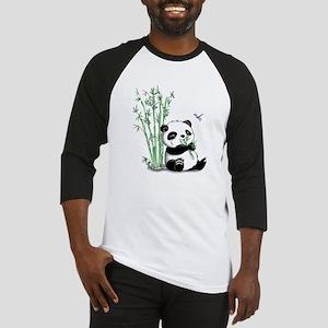 Panda Eating Bamboo Baseball Jersey