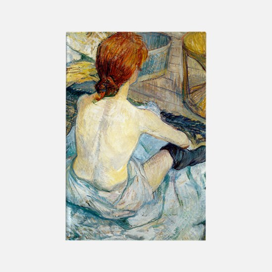 Toulouse Lautrec Bath Rectangle Magnet