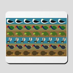 NZ bird stripes Mousepad
