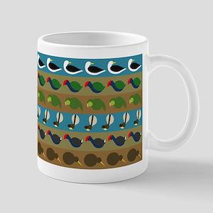 NZ bird stripes Mug