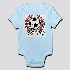 Poland Soccer Infant Creeper