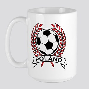Poland Soccer Large Mug