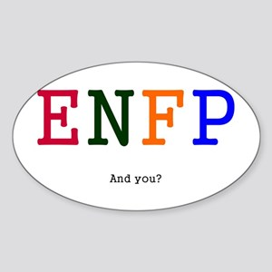 ENFP Personality Goodies Oval Sticker