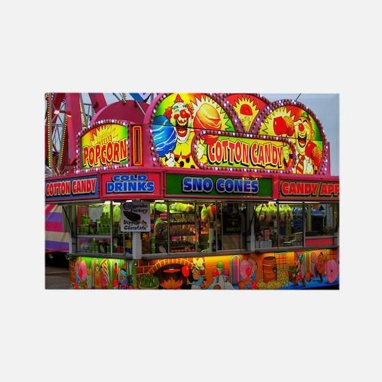 Clown Cotton Candy Rectangle Magnet